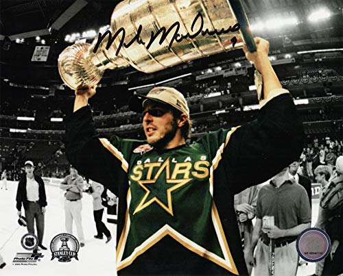 Mike Modano Signed Dallas Stars Holding 1999 Stanley Cup 8x10 Photo ()