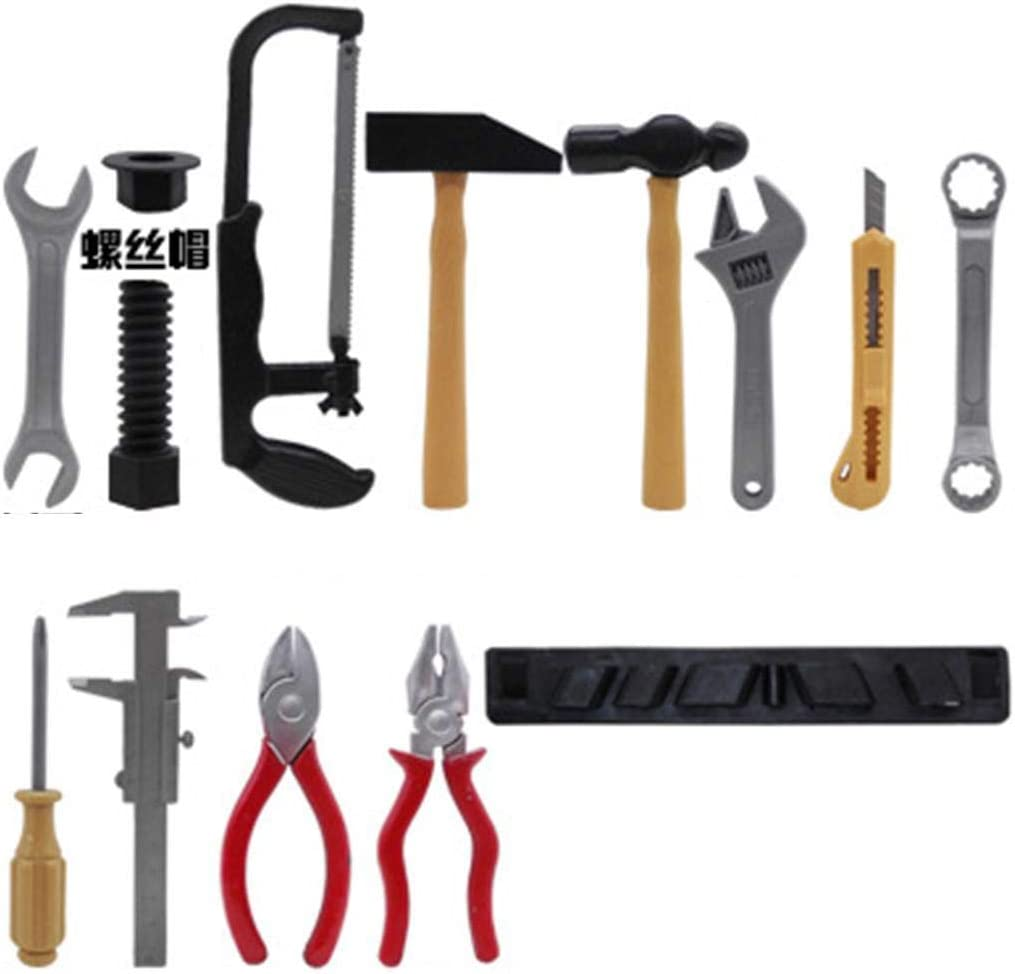 Kids Power Tool Home Repair Tool Toy Set for Boys Girls Gift Figures /& Playsets samifa 14Pcs//Set Repair Tool