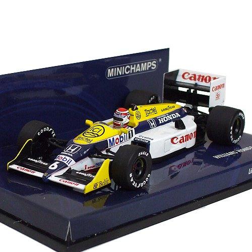 1/43 ウィリアムズ ホンダ FW11B N.ピケ 1987 canon #6(イエロー×ホワイト×ブルー) 400870006