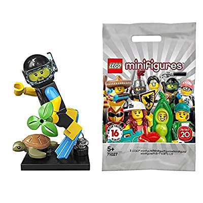 LEGO Series 20 Minifigures Sea Rescuer (Girl Scuba Diver) 71027: Toys & Games