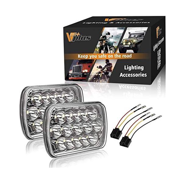Partsam H6054 7 U00d76 5 U00d77 Led Headlights Sealed Beam Hi  Low W