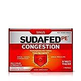 Sudafed PE Congestion and Sinus Pressure Relief, Maximum Strength Nasal Decongestant, 36 ct