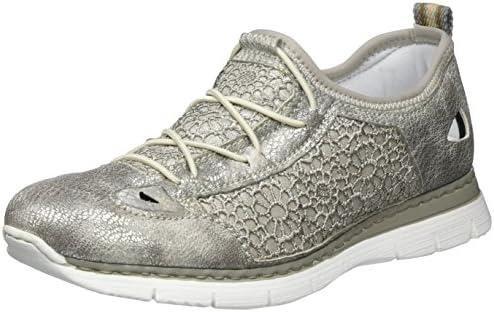 Rieker Damen M5261 Sneakers, Silber (AltsilberStaub Silber