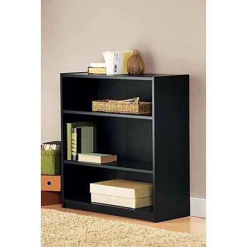 Amazon Mainstays 3 Shelf Bookcase Black Kitchen Dining