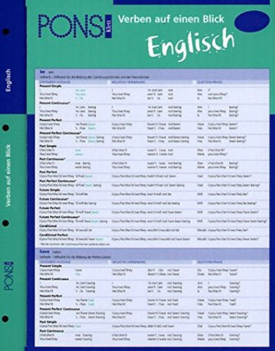 PONS Verben auf einen Blick Englisch: kompakte Übersicht, Verbformen und Konjugationen nachschlagen (PONS Auf einen Blick)