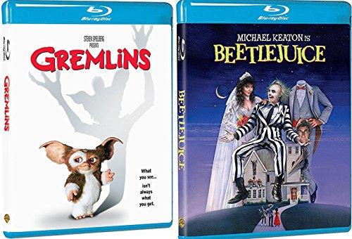 Tim Burton Beetlejuice Blu Ray + Gremlins Fantasy Double Feature Movie set bonus animated Beetlejuice episodes