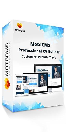 amazon com motocms professional cv builder create your personal