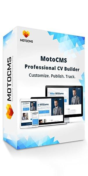 Amazoncom Motocms Professional Cv Builder Create Your Personal