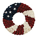 Gerson-Soft-Rose-Americana-Wreath-Patriotic-Wreath-17-Inch-Diameter-Roses-and-Stars-Red-White-and-Blue-4th-of-July-Decorating