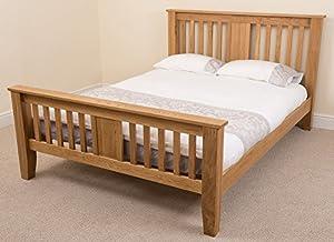 Boston 5ft Solid Oak Kingsize Bed Frame 220 x 164 x 110 cm