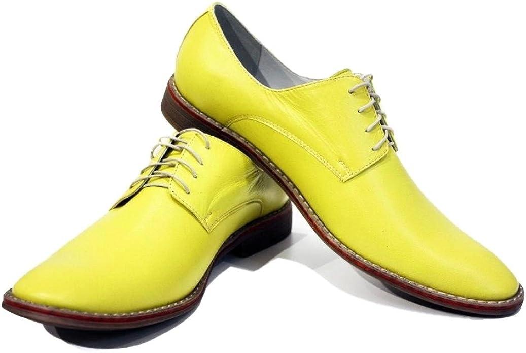 Handmade Italian Mens Color Yellow