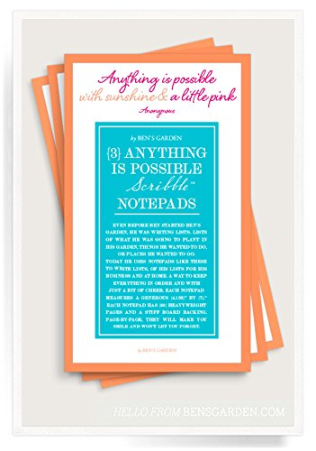Notepad Possible (Ben's Garden Anything Is Possible Scribble Notepad Set)