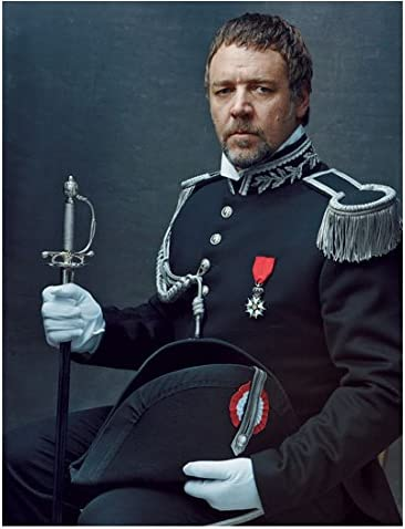 Les Miserables Russell Crowe as Javert seated with sword and cap 8 x 10  Inch Photo at Amazon's Entertainment Collectibles Store
