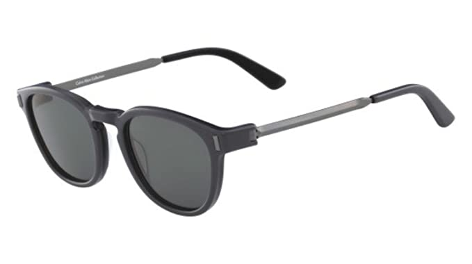 9224877ee3f6e Image Unavailable. Image not available for. Color  Calvin Klein CK8544S  33040 Jet Black Round Sunglasses