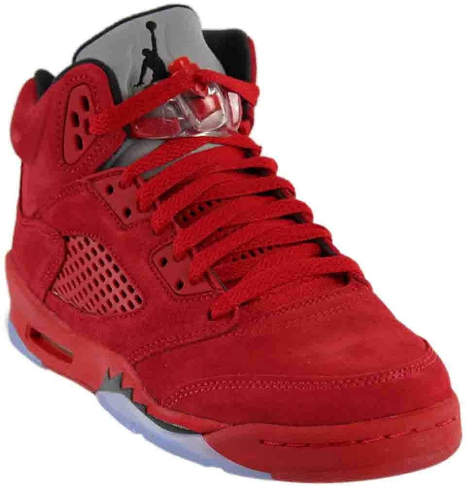3925416156a0 Nike Kids Air Jordan 5 Retro BG University Red Black 440888-602 (Size  5.  5Y)  Buy Online at Low Prices in India - Amazon.in