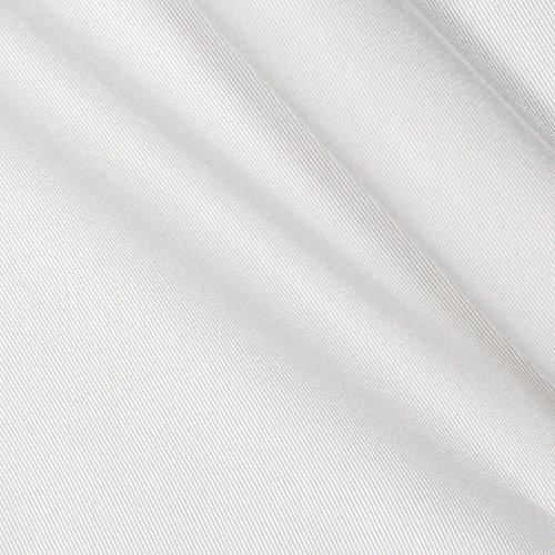 TELIO Bamboo Viscose Twill Fabric by The Yard, White