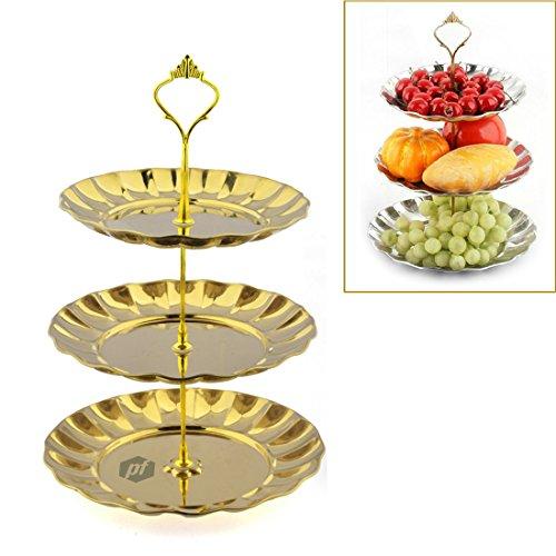 Fruit Plate, Petforu 3 Tier Fruits Cakes Desserts Plate Stan