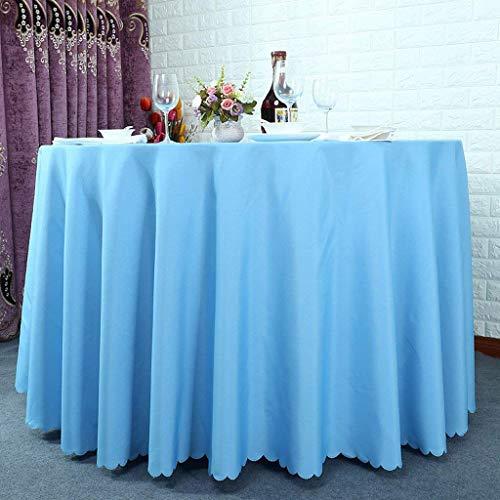 bleu Round280cm HUAIX Home Linge pour Le Linge de Table de Cuisine Hôtel Rond Restaurant Café de Nappe de Couleur Unie Eau Réunion Bleu Rose Violet (Couleur   bleu, Taille   Round280cm)