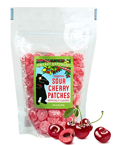 Cherry Republic Sour Cherry Patches - Cherry Sugar Coated Sour Patch - Gummy Candy for Kids & Adults - Cherry Flavored Sweet & Sour Candy - Sour Cherry Gumdrop Candy -