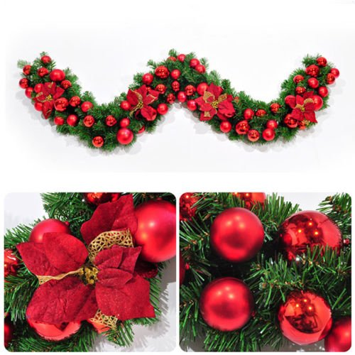 Outdoor Lighted Christmas Wreath Cordless - 8