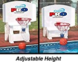 Cool Jam Pro Pool Basketball Goal Hoop Net | Includes 2 Basketballs | Adjustable Heights | Hard Molded Backboard | Sturdy & Stable Weighted Base | Make Your Swimming Pool The Neighborhood Arena