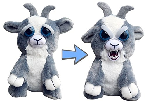 Feisty Pets Junkyard Jeff Adorable Plush Stuffed Goat That Turns Feisty with a Squeeze