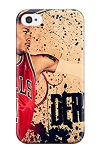 Holly M Denton Davis's Shop Hot abstract nba basketball derrick rose chicago bulls NBA Sports & Colleges colorful iPhone 4/4s cases
