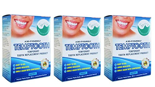 Temptooth #1 Seller Trusted Original Temporary Tooth Replacement Product x3