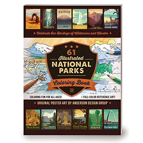 59 Illustrated National Parks Coloring - Verde Mount Color