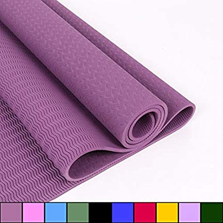 zfq TPE Yoga Mat TPE Caucho Natural Yoga Mat 6mm ...
