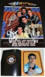 Justin Timberlake, JC Chasez, Lance Bass, Joey Fatone, and Chris Kirkpatrick Autographed - Hand Signed 'NSync 11x14 Photo - Cover - NO STRINGS ATTACHED Tour Book