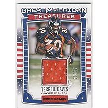 2017 Rookies and Stars Great American Treasures Jerseys #20 Terrell Davis Jersey /99 - NM-MT