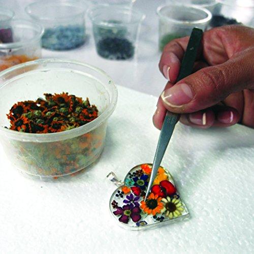 Bijoux en argent avec fleurs véritables - boucles d'oreilles clous - pavot rouge - forme ovale - boîte cadeau