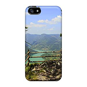 Unique Design Iphone 5/5s Durable Tpu Case Cover Lookout On Zaovine Lake