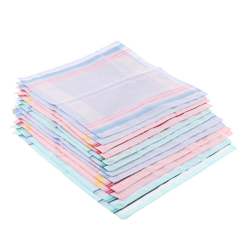 P Prettyia 12pcs Damen Taschent/ücher aus 100/% Bio Baumwolle 30 x 30 cm