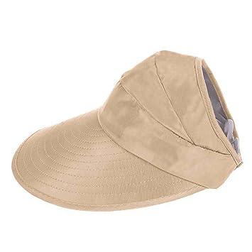 CHENYUE Portátil Pregable Sombrero del Sol Mujer ala Ancha Visera Parasol  Transpirable Protacción UV Verano Pesca a6fb44aab0d