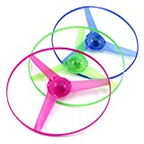 Children Kids Outdoor LED Frisbees Boomerangs Flying Saucer Helicopter UFO Spin