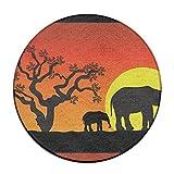 GDHOKMX Elephants In Africa Antiskid Cushion Diameter 60