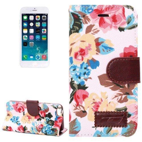 Del caso del tirón del caja del teléfono móvil del caso para el iPhone de Apple Business Case 6 flores de primavera verano