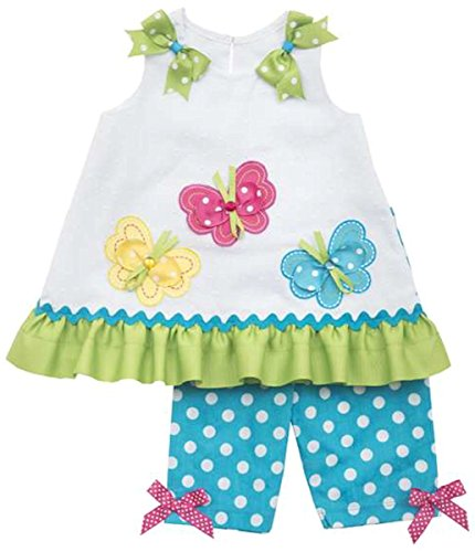 Rare Editions Baby-girls Butterfly Dress and Capri Set (3-6 Months)
