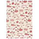 Now Designs Printed Kitchen Towel, Holiday Toile