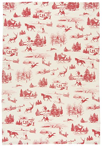 (Now Designs Printed Kitchen Towel, Holiday Toile)