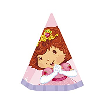 Strawberry Shortcake Berry Princess Cone Hats 8ct Amazon In