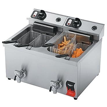 Vollrath 40710 30 lb. Commercial Countertop Deep Fryer 220V