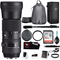 Sigma 150-600mm f/5-6.3 DG OS HSM Contemporary Lens for Canon Bundle