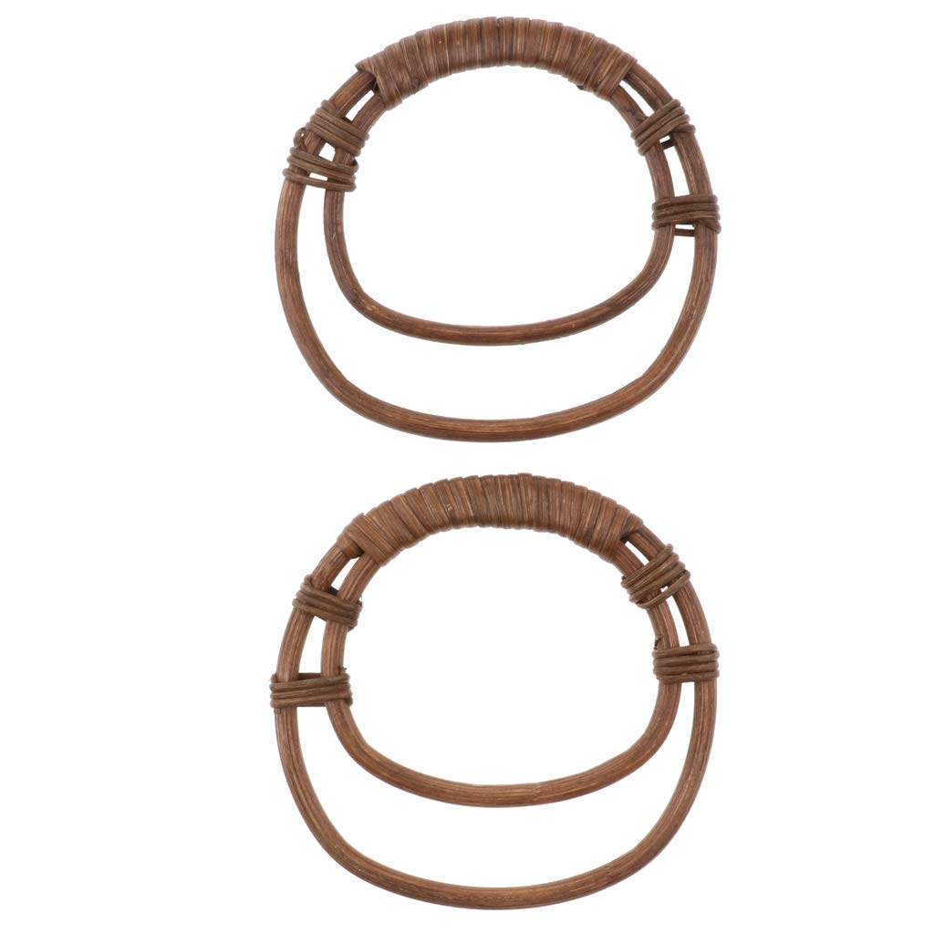 Made of Durable Solid Wood with Matte Coating on top Wooden Purse Handle Easy Attachment Bag Handle for Handbag DIY Purse Making IPOTCH 1 Pair