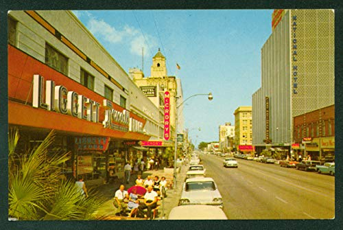 (Downtown St. Petersburg Florida Central Avenue and 5th Street View Rexall Drugs McCrorys Hotels 1950s Vintage Florida)