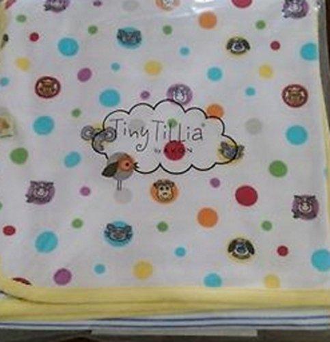 Tiny Tillia Receiving Blanket Playmates Soft Cotton Yellow Striped Cotton Striped Receiving Blanket