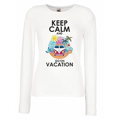 66e48ba554f32 lepni.me Longues Femme T-Shirt Aller en Vacances