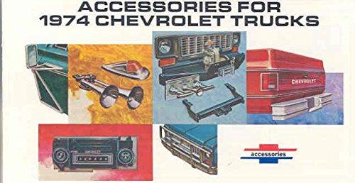 - 1974 Chevrolet Truck Accessories Brochure Pickup Blazer